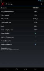 SCR Screen Recorder settings