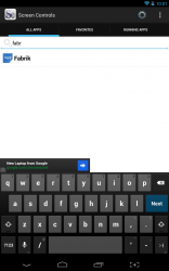 Screen Controls search for apps