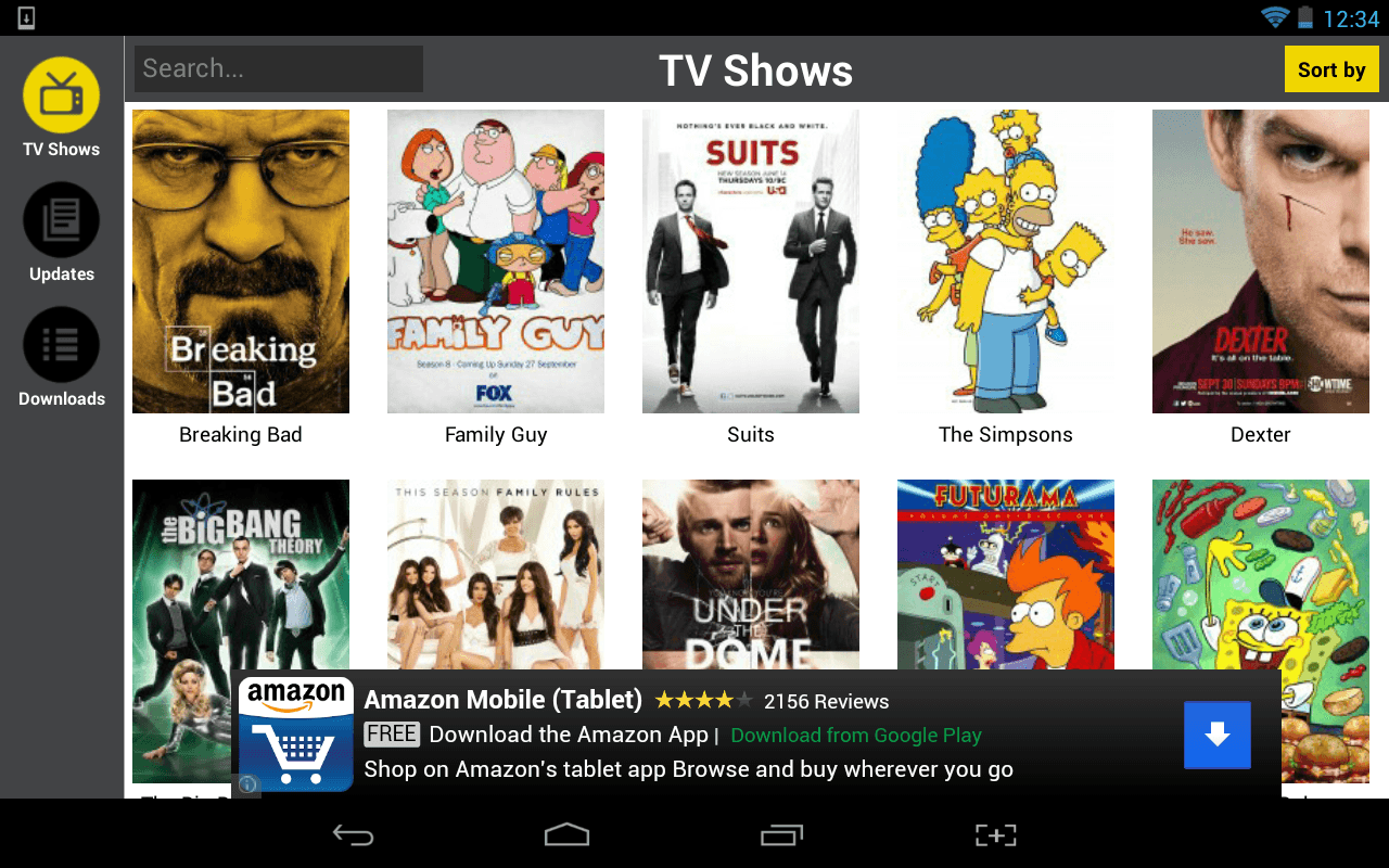 Show Box TV series browsing