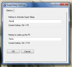 Super Sleep hotkey settings