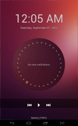 Ubuntu Lockscreen media controls