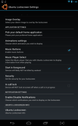 Ubuntu Lockscreen settings 2
