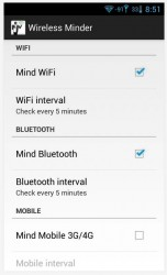 Wireless Minder radio settings