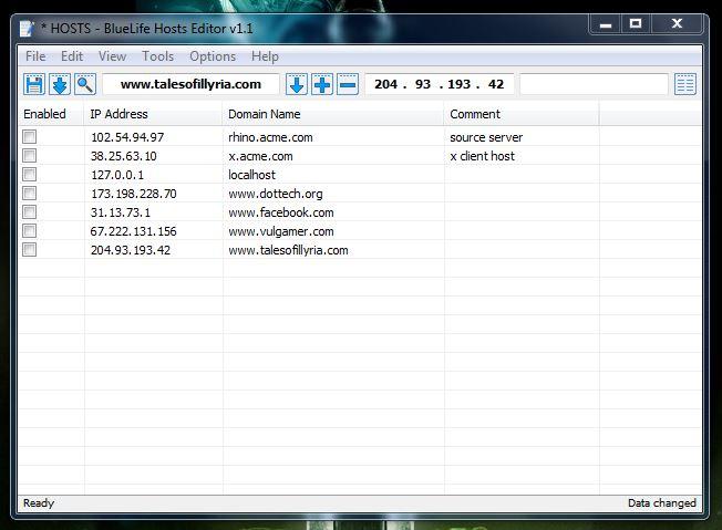 BlueLife Hosts File UI