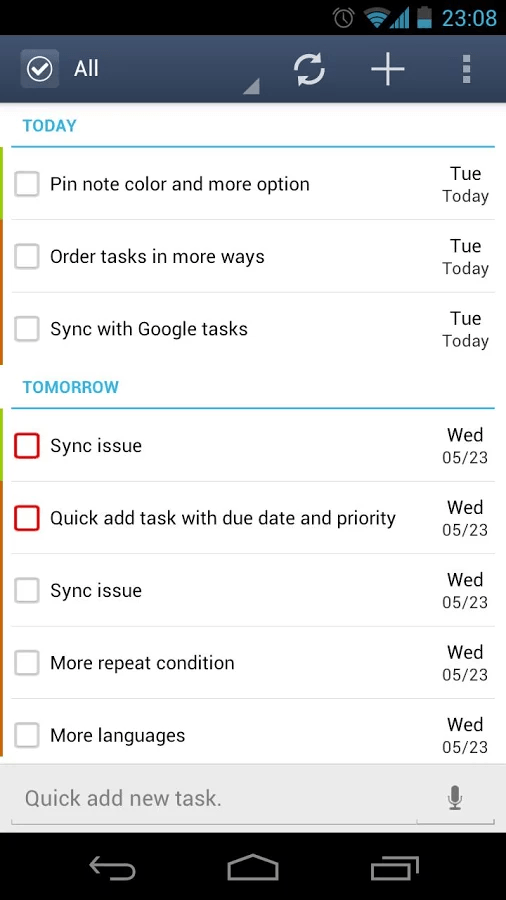 GTasks task management app