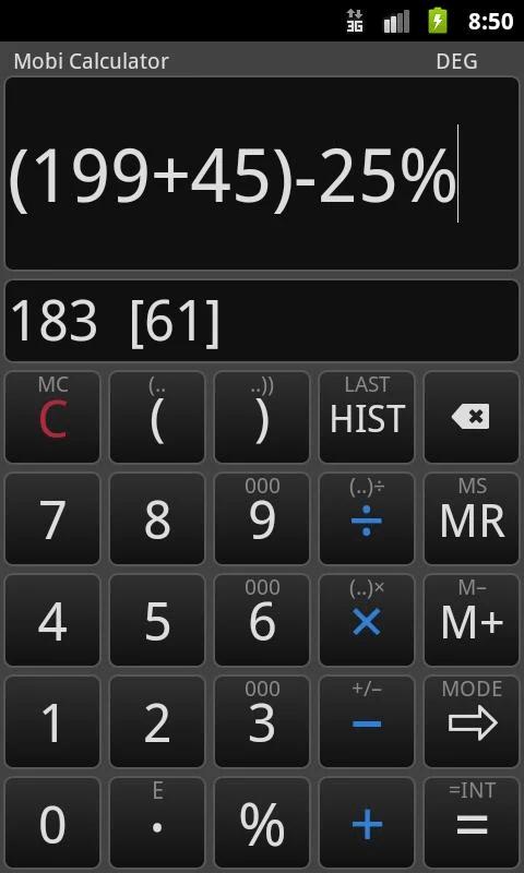 Mobi Calculator Free