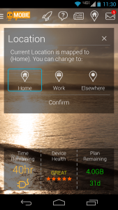 Mobie location info