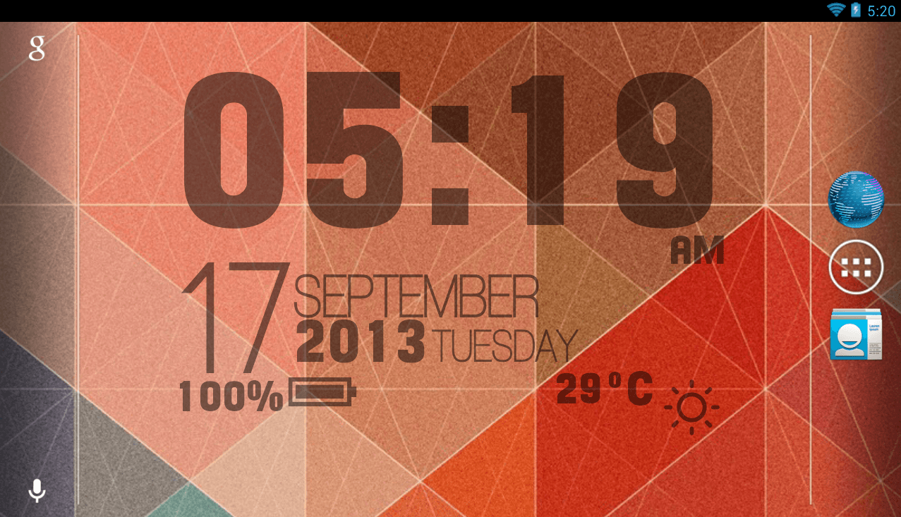 Sense Clock Live Wallpaper