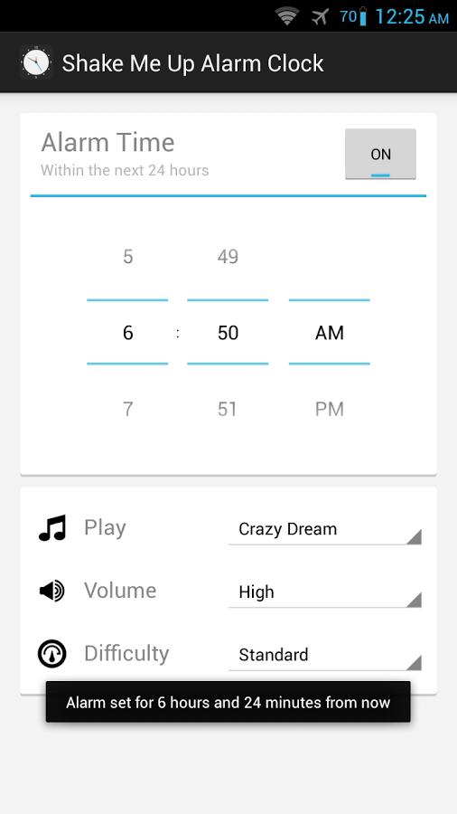 Shake Me Up Alarm Clock