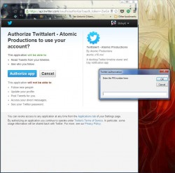TwittAlert Authorization
