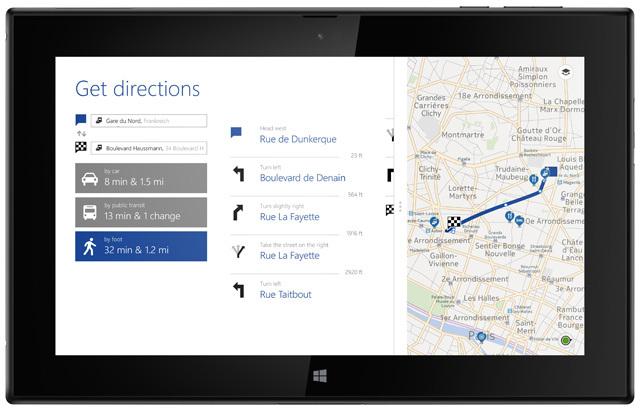 lumia2520 map