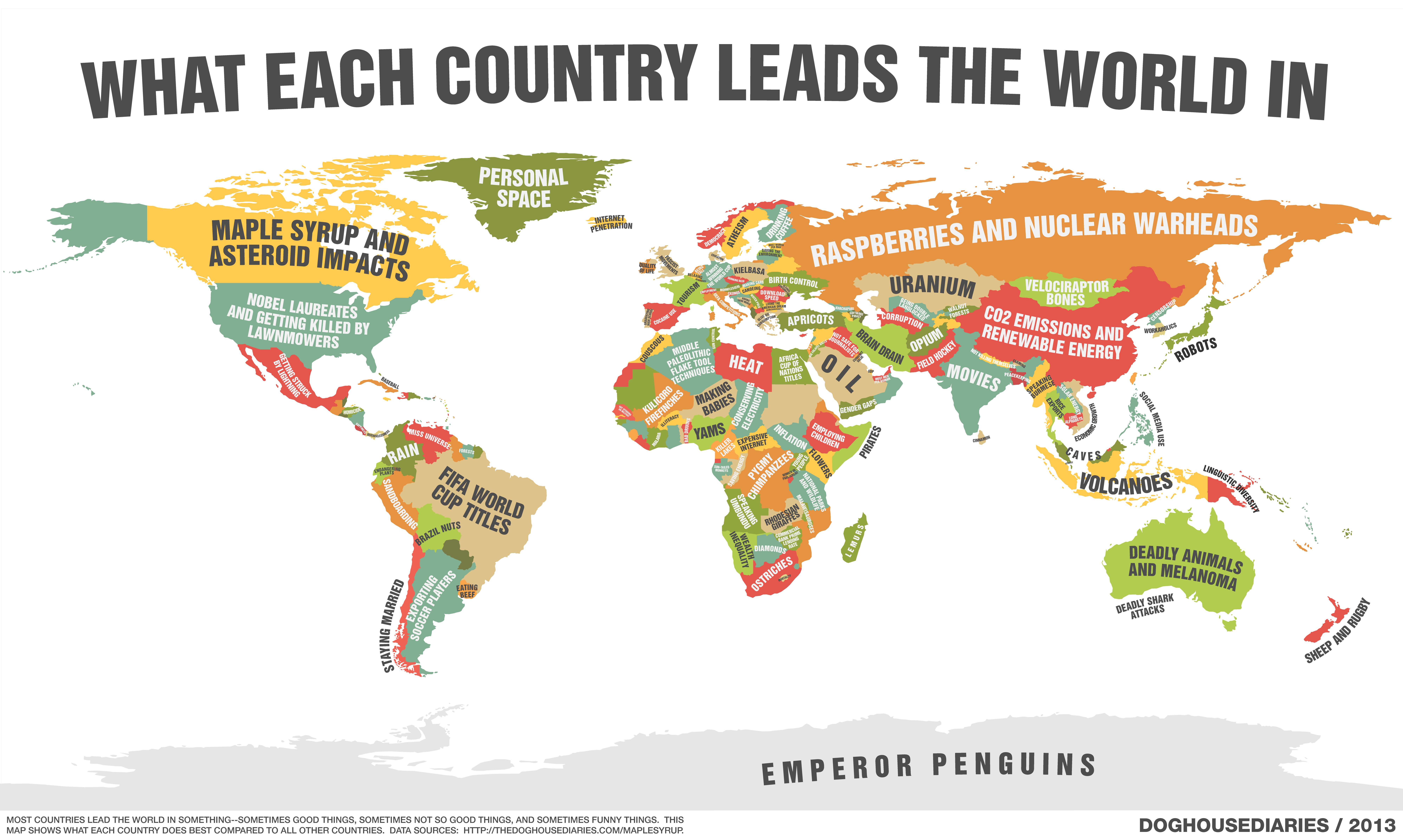 """What each country leads the world in"" [Comic]"