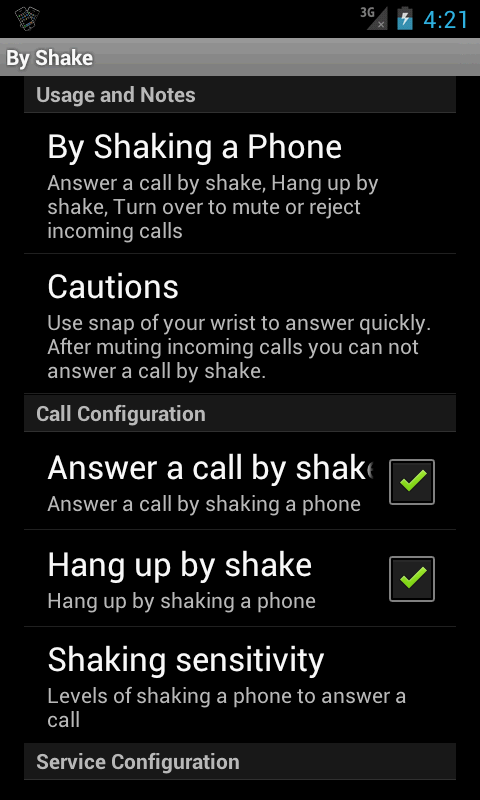 By Shake for Android