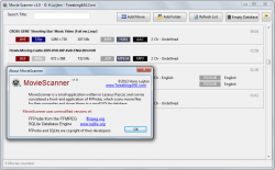 MovieScanner for Windows About