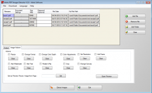 PDF Image Extractor 4dots Image Actions