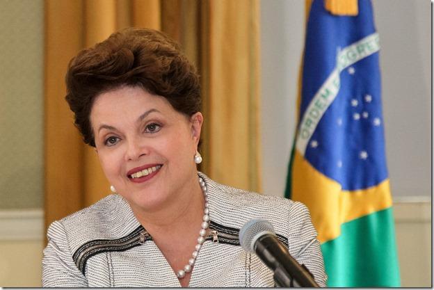 Nova Iorque - EUA, 22/09/2011. Presidenta Dilma Rousseff durante coletiva de imprensa no Hotel Waldorf Astoria. Foto: Roberto Stuckert Filho/PR.