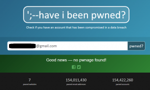 Have I Been Pwned Scrnshot