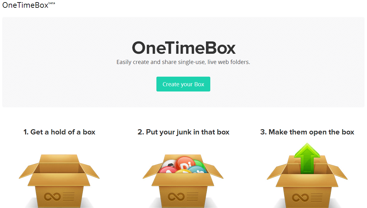 OneTimeBox for Web