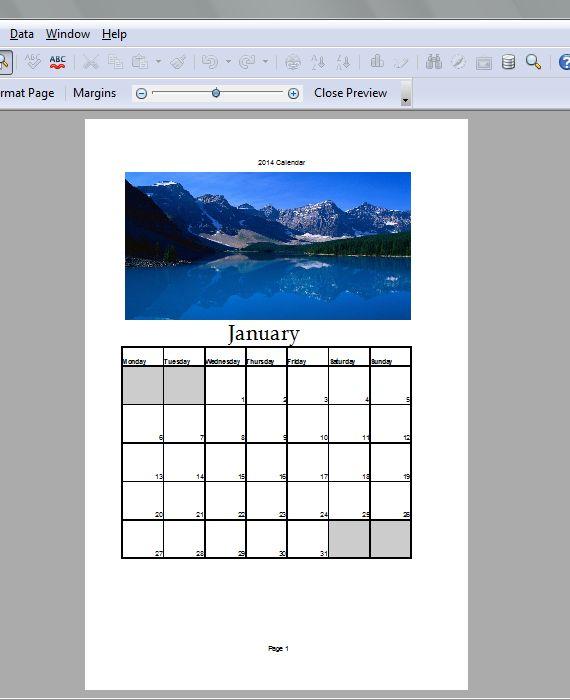 Spreadsheet Calendar 5