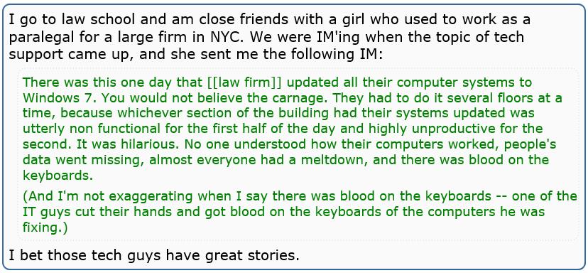 blood on keyboard