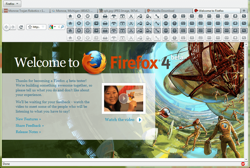 firefox beta buttons