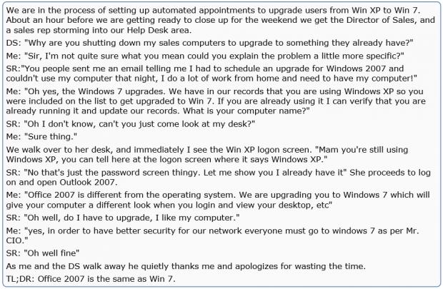 on windows 2007