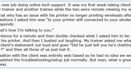 talking printer