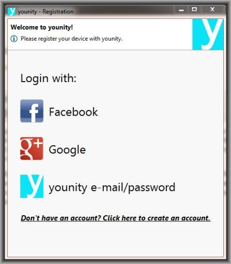 younity registration