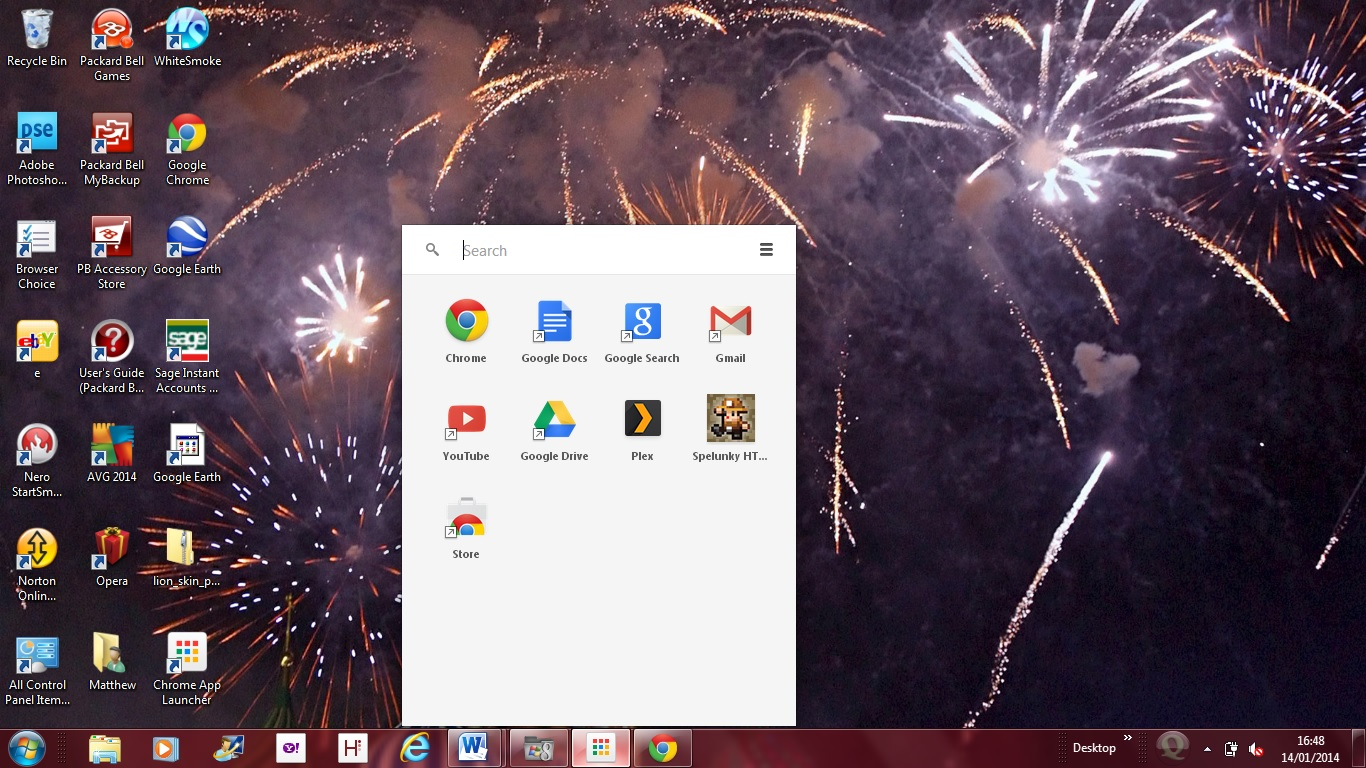 Chrome app launcher 1