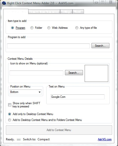 Context Menu Adder