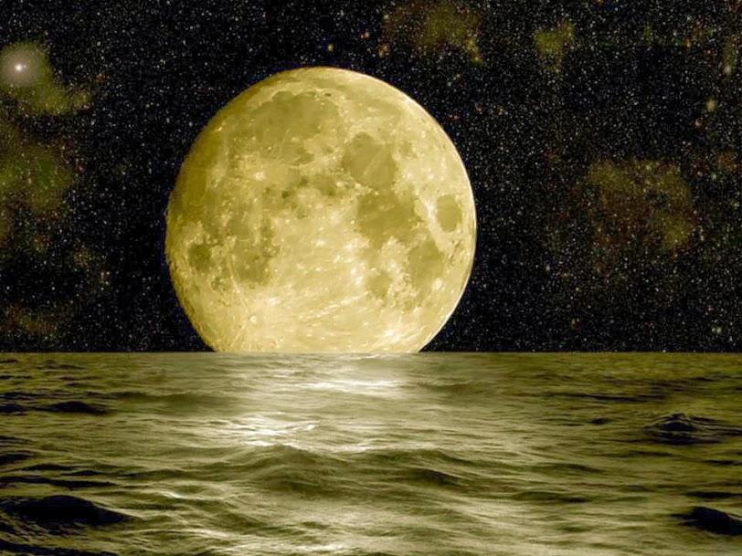 Full Amazing Moon in Cable Beach, Broome, WA Australia