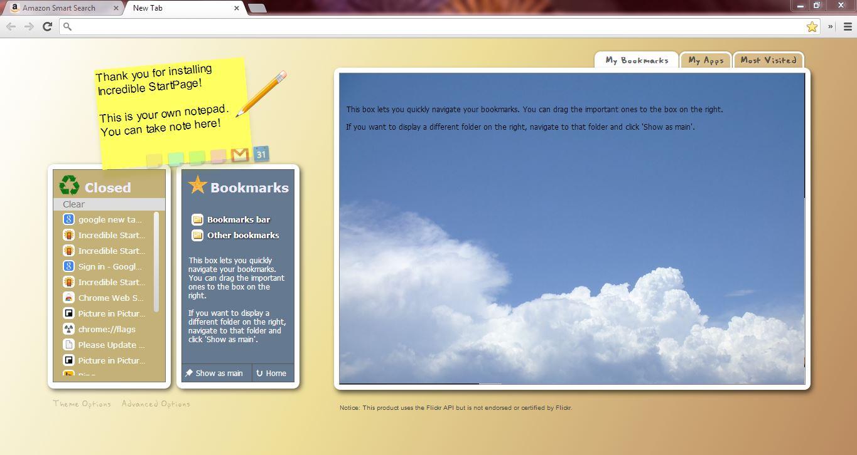 Google tab page