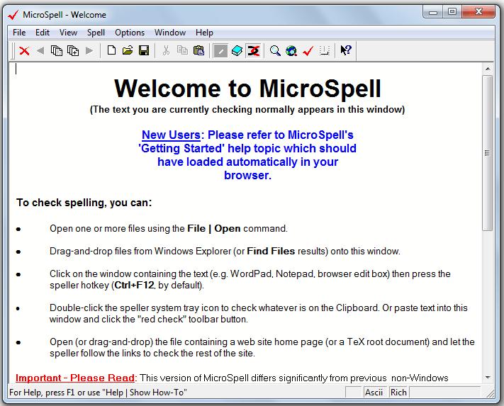 MicroSpell