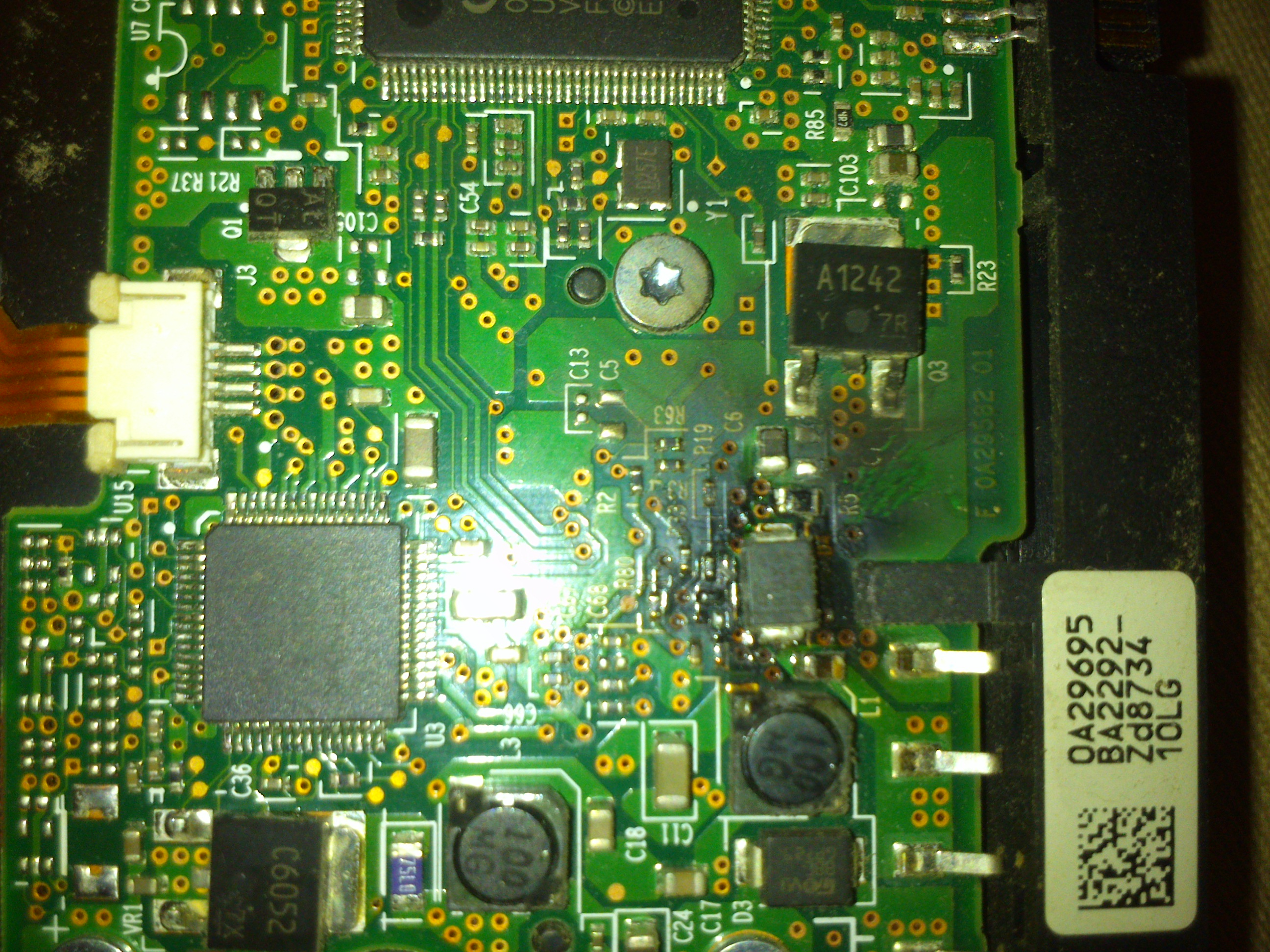 burnt hard drive