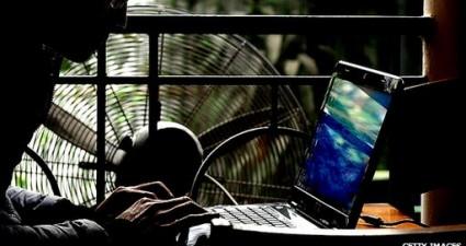guy on computer