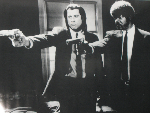 pulp fiction black and white