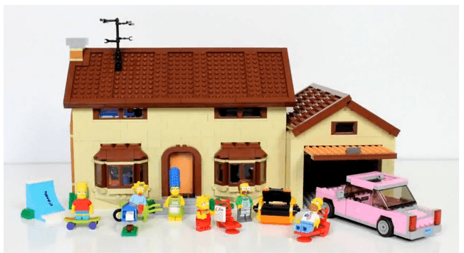 the simosons lego
