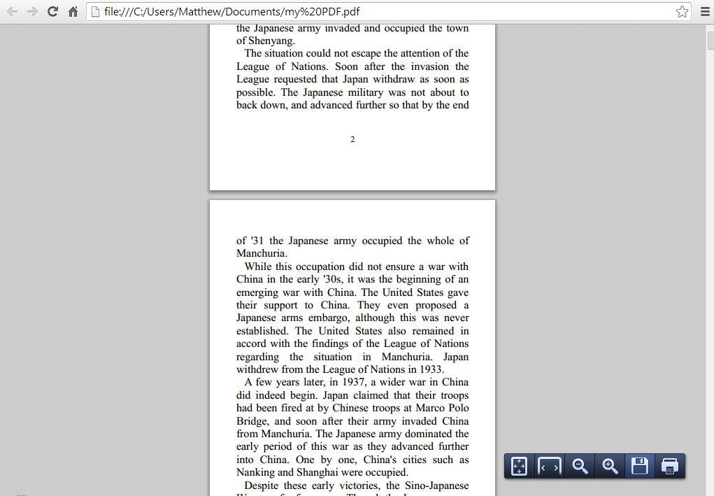 Chrome PDF 3
