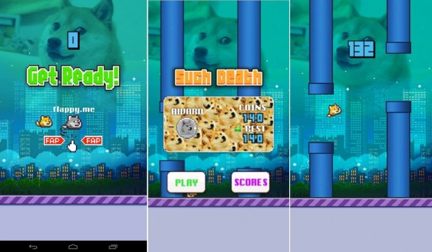 Flappy doge screens