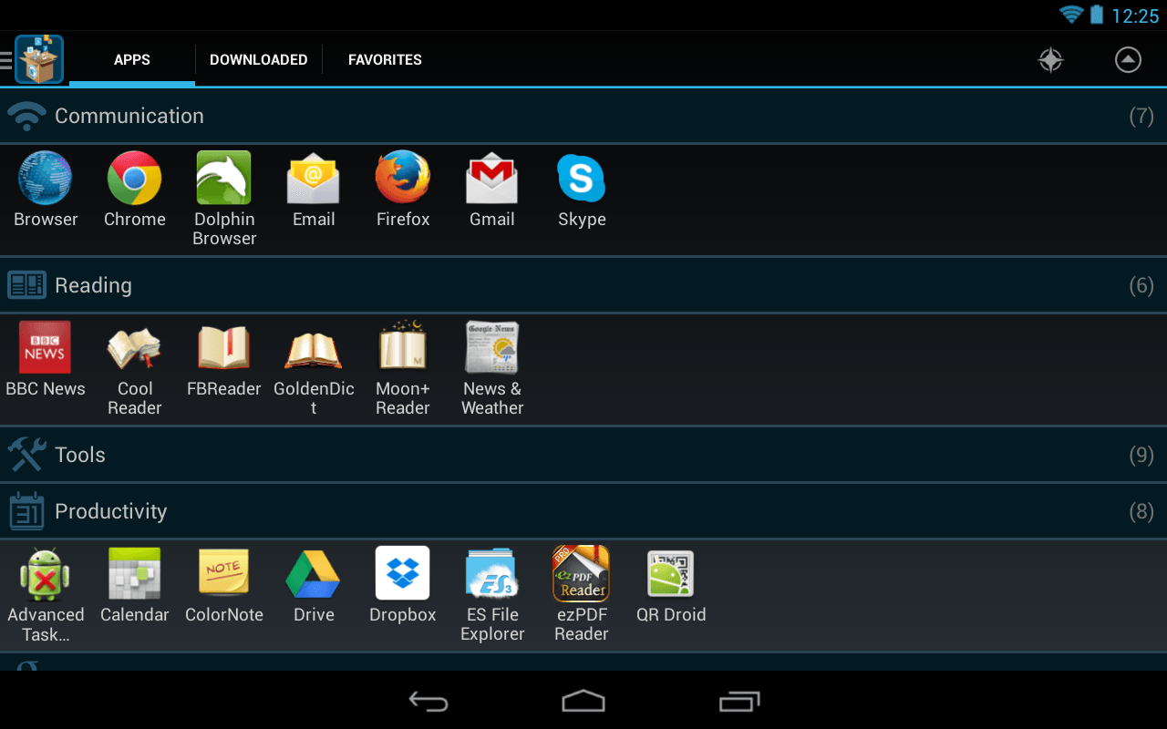 Glextor App Manager Organizer for Android
