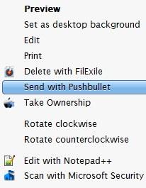 Send With Pushbullet