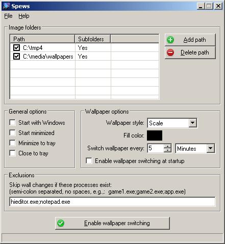 Spews for Windows