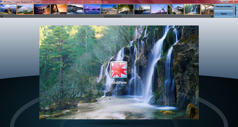 Windows 7 logon background 1