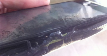burned iphone