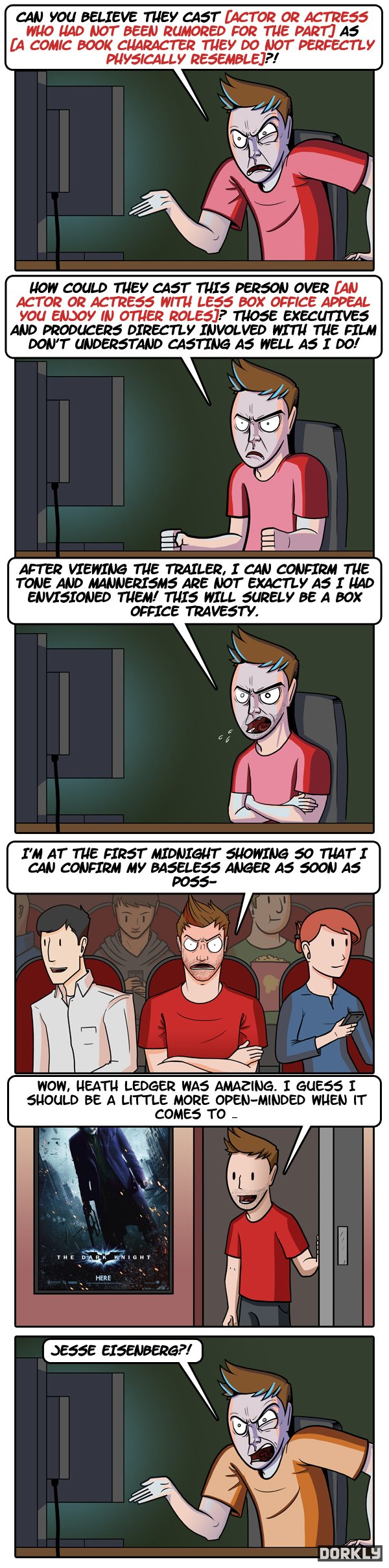 comic book movie casting