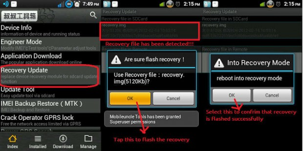 CUSTOM RECOVERY FOR MTK DEVICES