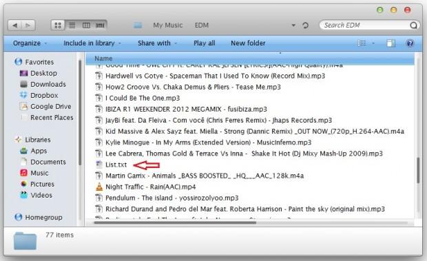 List File in Folder