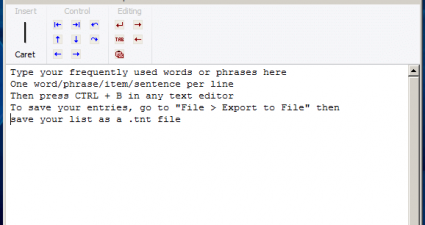 TypeText for Windows Freeware