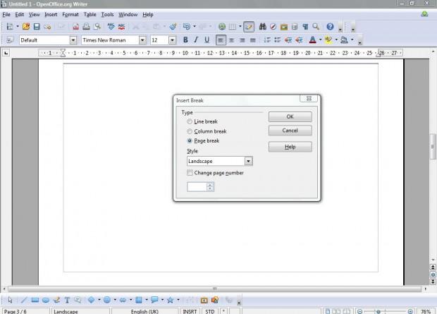 openoffice spreadsheet