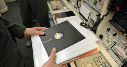 8 inch floppy disk us missile forces